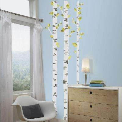 5 in. x 19 in. Birch Trees Peel and Stick Giant Wall Decal
