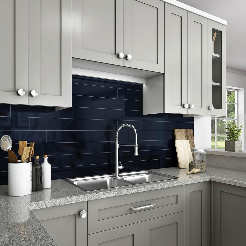 - Daltile Restore Navy 4 In. X 16 In. Glazed Ceramic Wall Tile (13.2