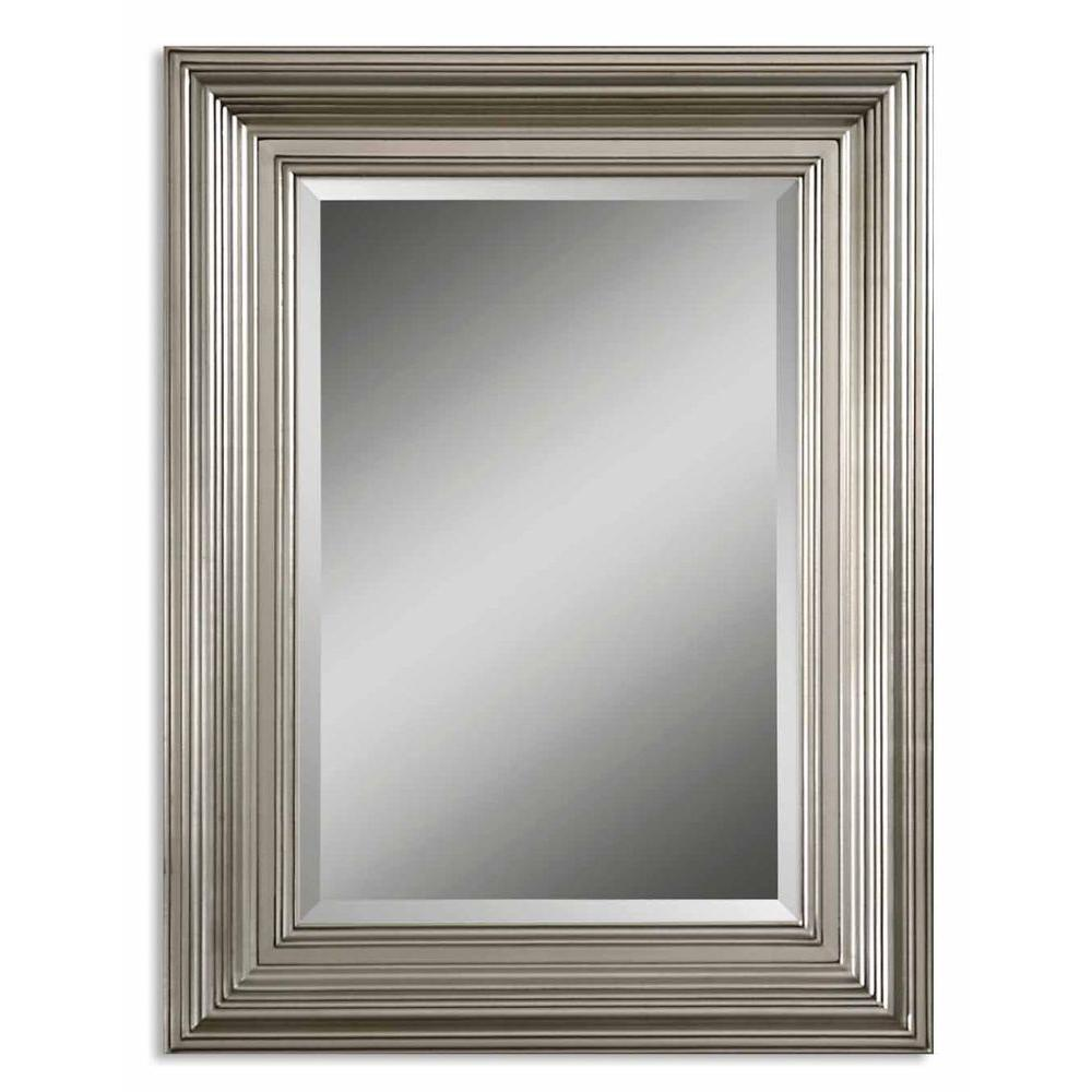 Global Direct 41 in. x 31 in. Silver Framed Mirror