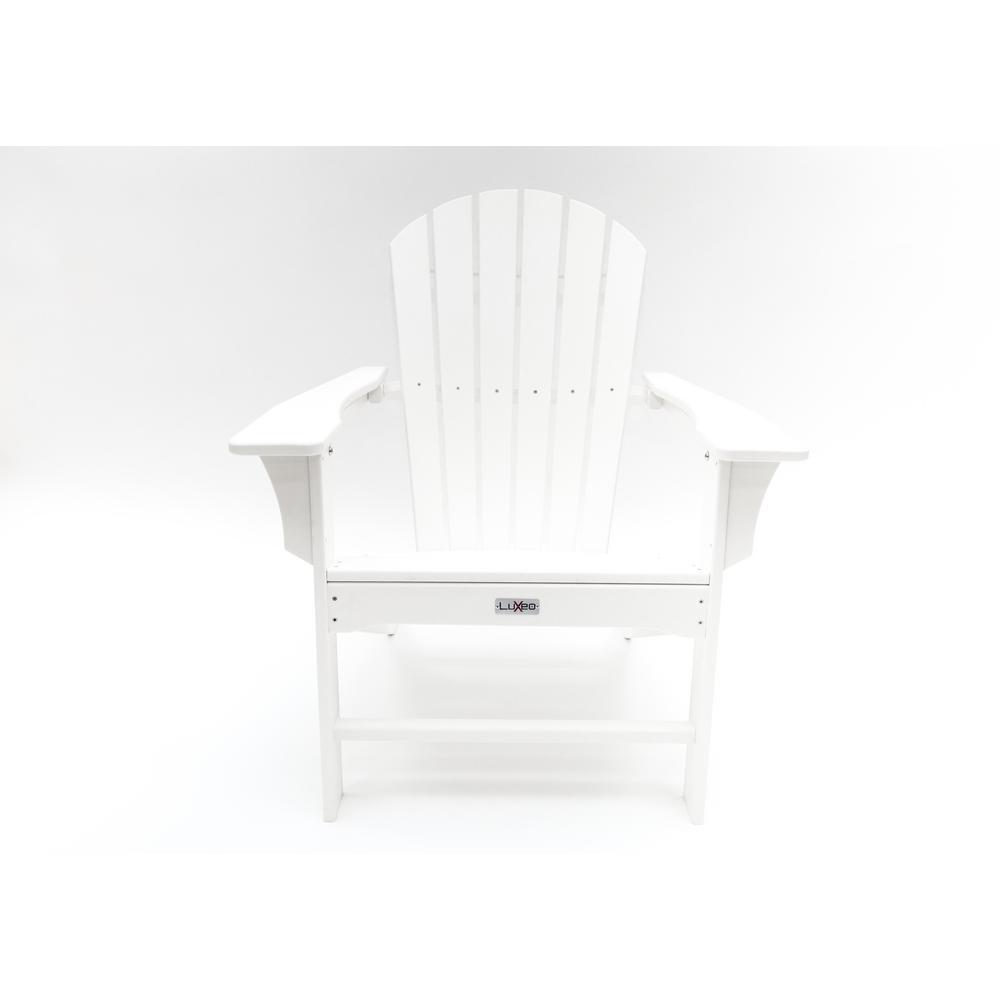 Hampton White Outdoor Patio Plastic Adirondack Chair