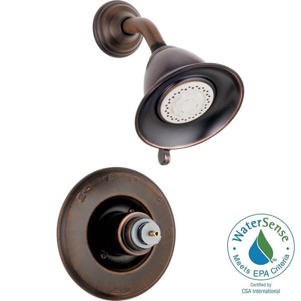 Delta Victorian 1-Handle 3-Spray Shower Faucet Trim Kit In Venetian Bronze (Valve And Handles