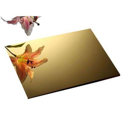 24 in. x 72 in. x 1/8 in. Thick Acrylic Mirror Gold Sheet