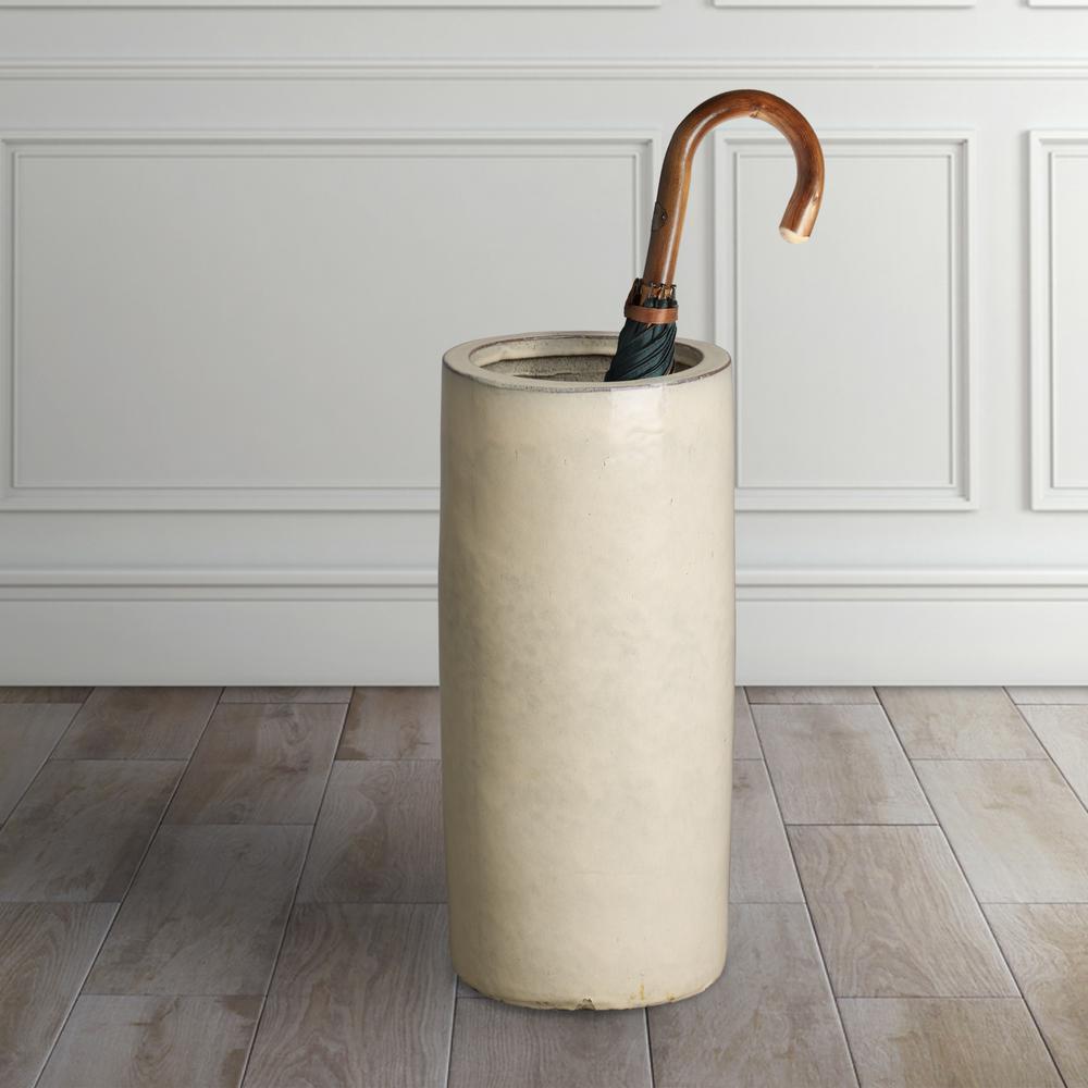 Emissary - Cream Ceramic Umbrella Stand