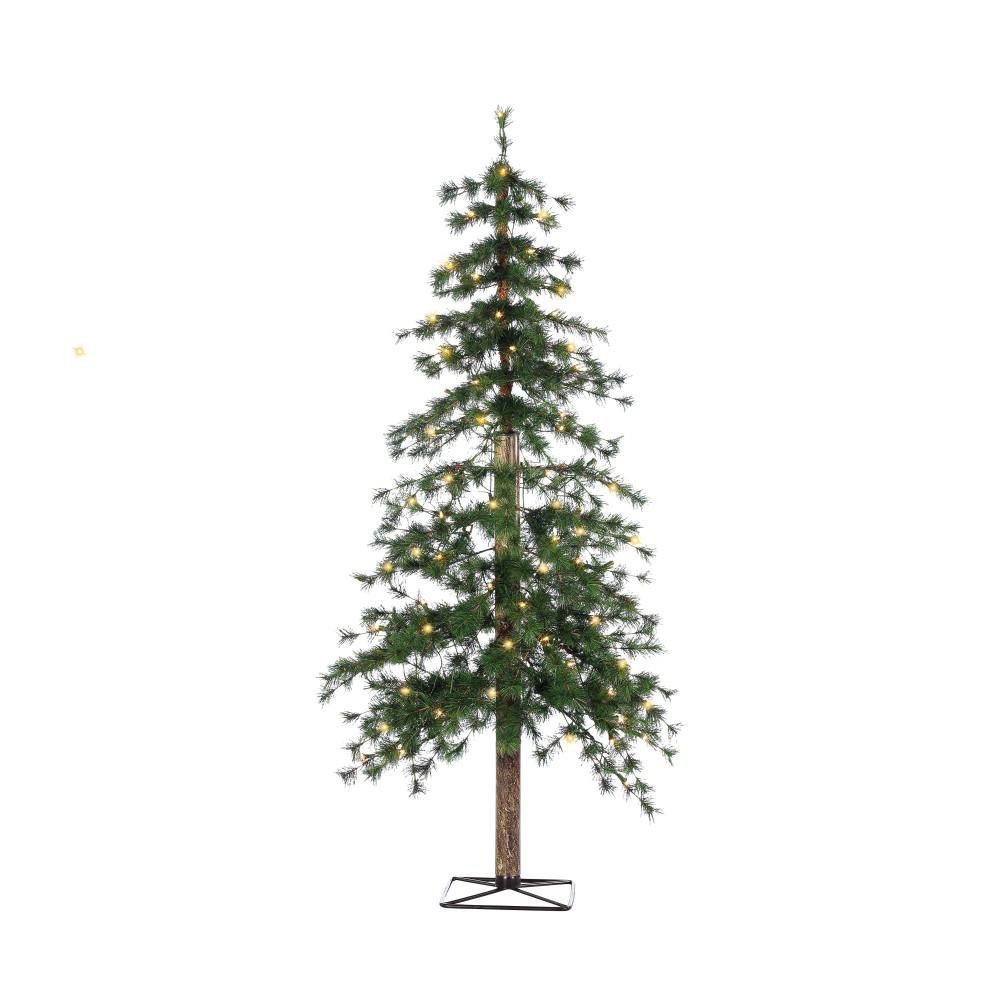 STERLING 5 ft. Pre-Lit Hard Needle Alpine Artificial Christmas Tree ...