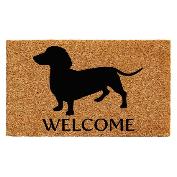 Dachshund 24 in. x 36 in. Door Mat