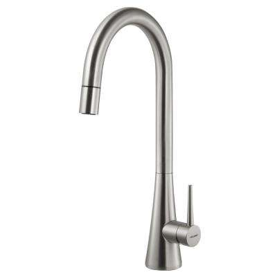 Soma Single-Handle Pull Down Sprayer Kitchen Faucet with CeraDox Technology in Brushed Nickel