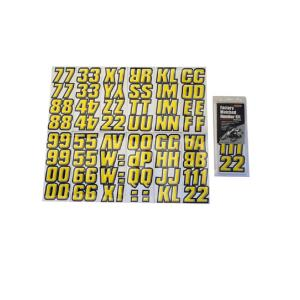 2 inch Factory Matched Snowmobile Registration Kits in Yellow/Black by