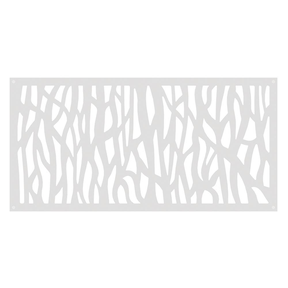 TuffBilt Sprig 4 ft. x 2 ft. White Polymer Decorative Screen Panel