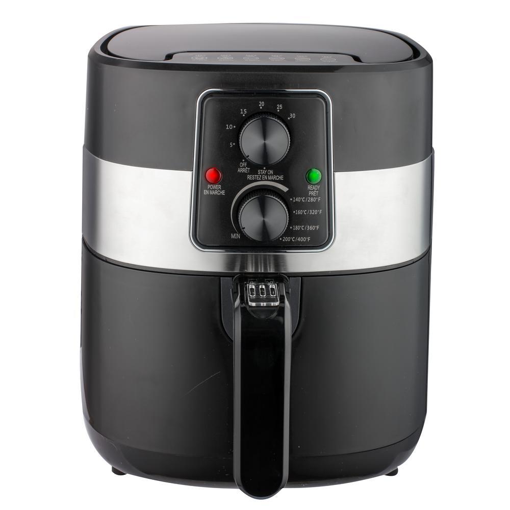 3.2 qt. Black Air Fryer with Automatic Shut Off