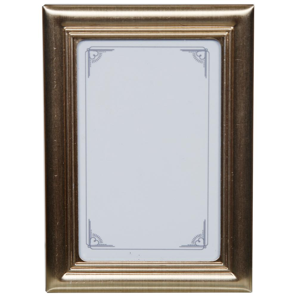 Pinnacle 2.5 in. x 3 in. Traditional Silver Mini Place Ca...