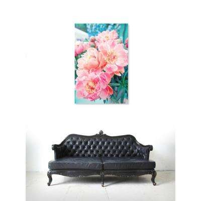 "24 in. x 36 in. 'Open Peonies"" by ""Oliver Gal"" Printed Framed Canvas Wall Art"