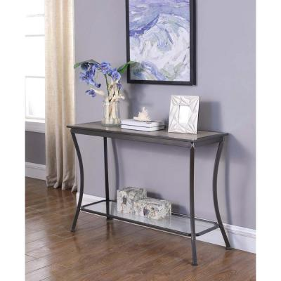 Cape Graphite Gray Metal Console Table