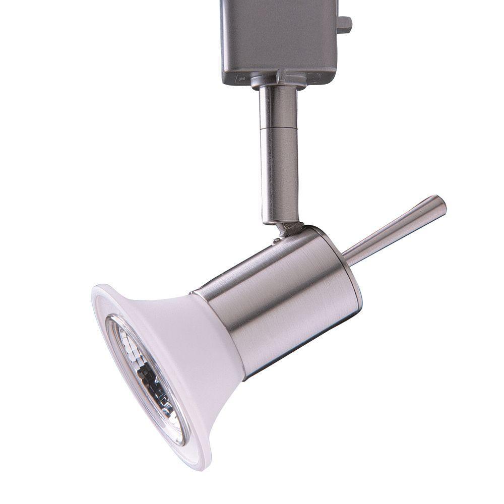 Series 11 Line-Voltage GU-10 Satin Nickel Track Lighting Fixture
