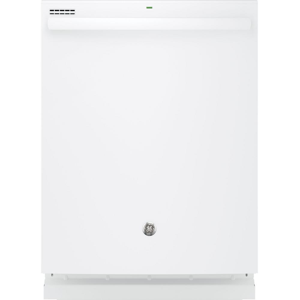 Top Control Built-In Tall Tub Dishwasher in White with Steam Prewash