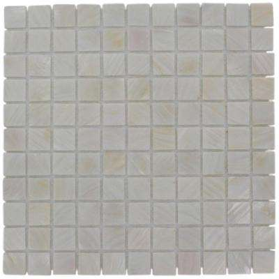 Mother of Pearl Castel Del Monte White 12 in. x 12 in. x 2 mm Pearl Glass Mosaic Tile