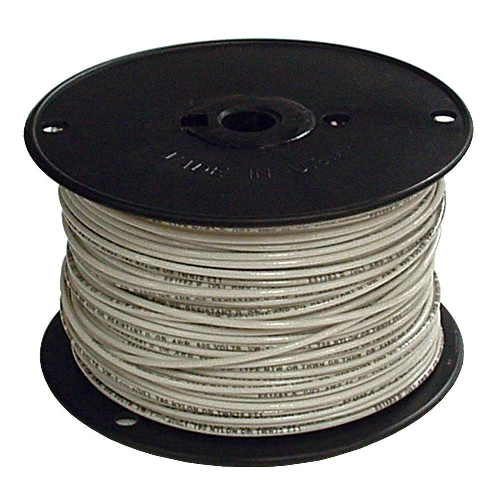 Southwire 500 ft. 4 White Stranded CU SIMpull THHN Wire