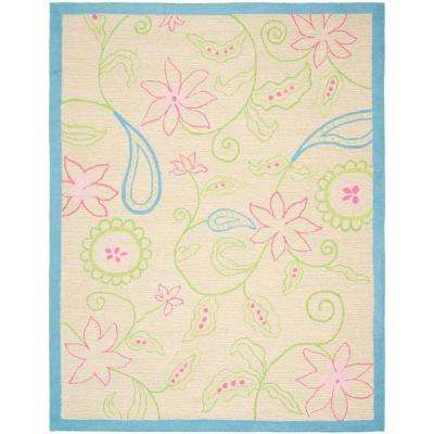 Kids Ivory/Blue 8 ft. x 10 ft. Area Rug