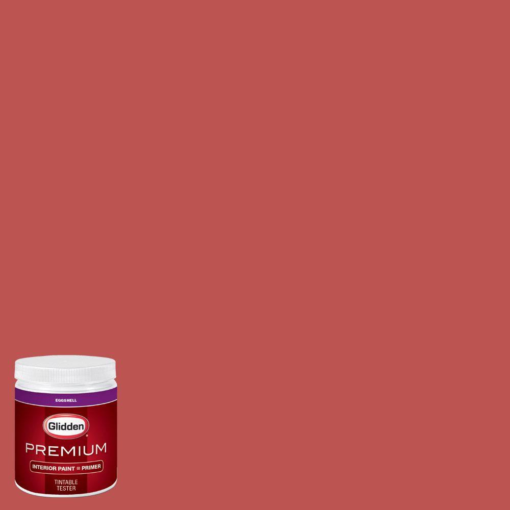 Glidden Premium 8 Oz Hdgr60 French Stripe Red Eggshell Interior Paint With Primer Tester