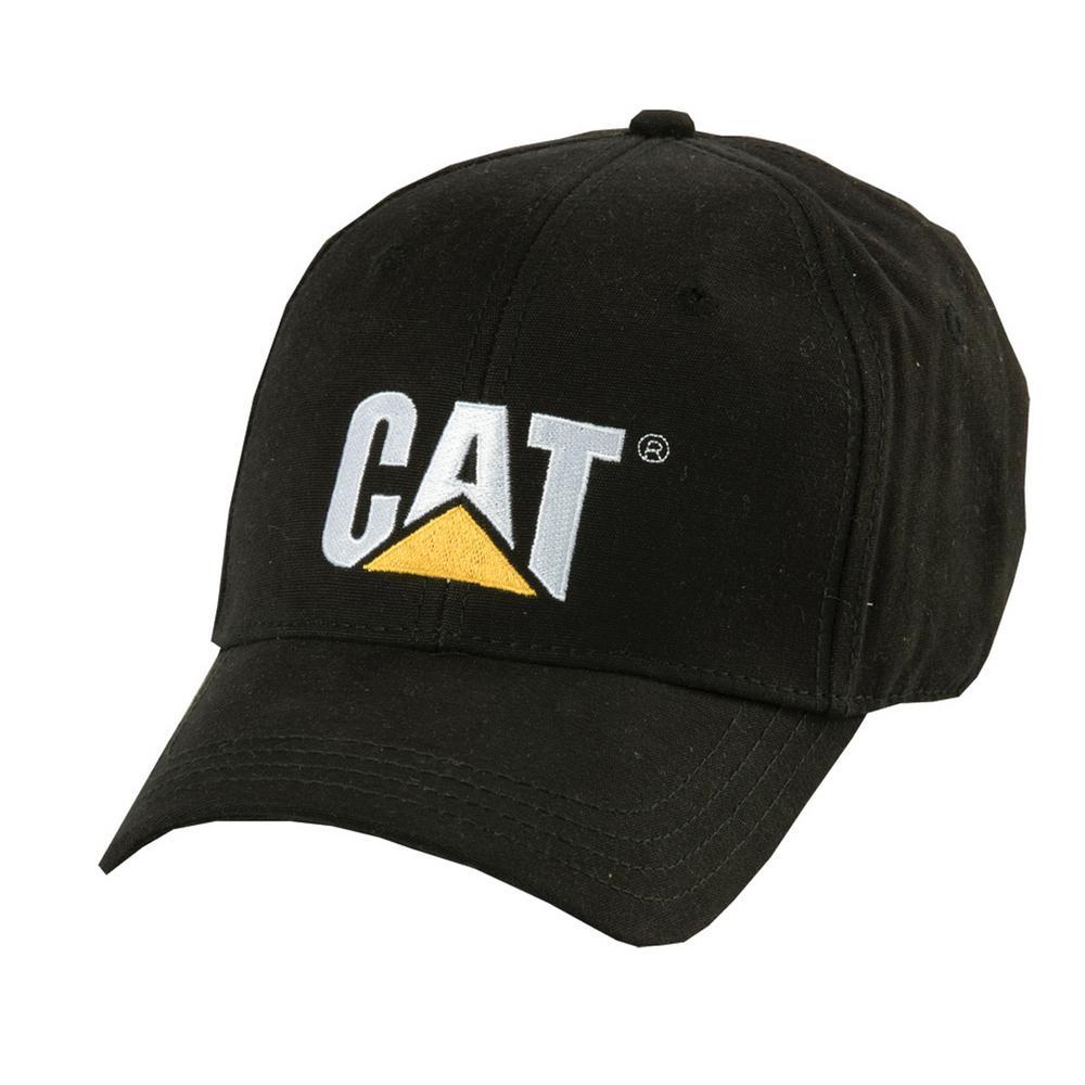 813d80031 Caterpillar Trademark Men's One Size Black Cotton Canvas Cap  Headwear-W01791-016-OS - The Home Depot