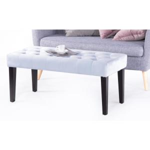 Remarkable Velvet Tufted Azure Modern Ottoman Coffee Table Bench Pdpeps Interior Chair Design Pdpepsorg