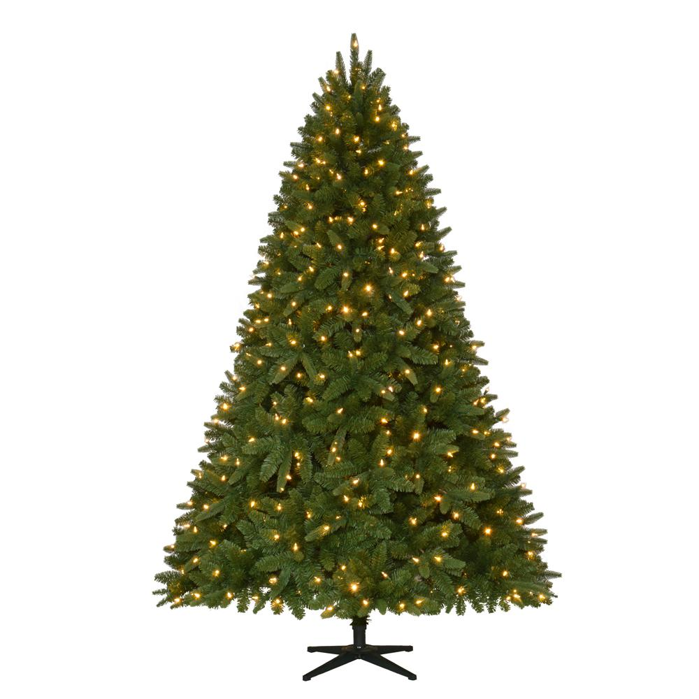 Pre Lit Led Lights Christmas Tree: Home Accents Holiday 7.5 Ft. Quick-Set Pre-Lit LED Sierra