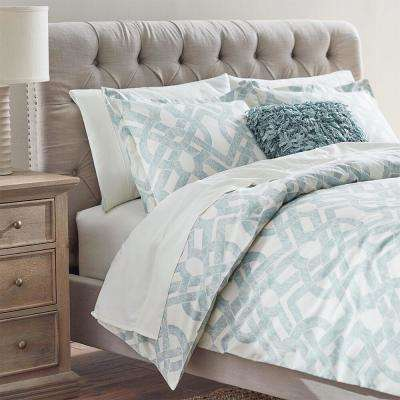 Waveland Green and Blue King Duvet