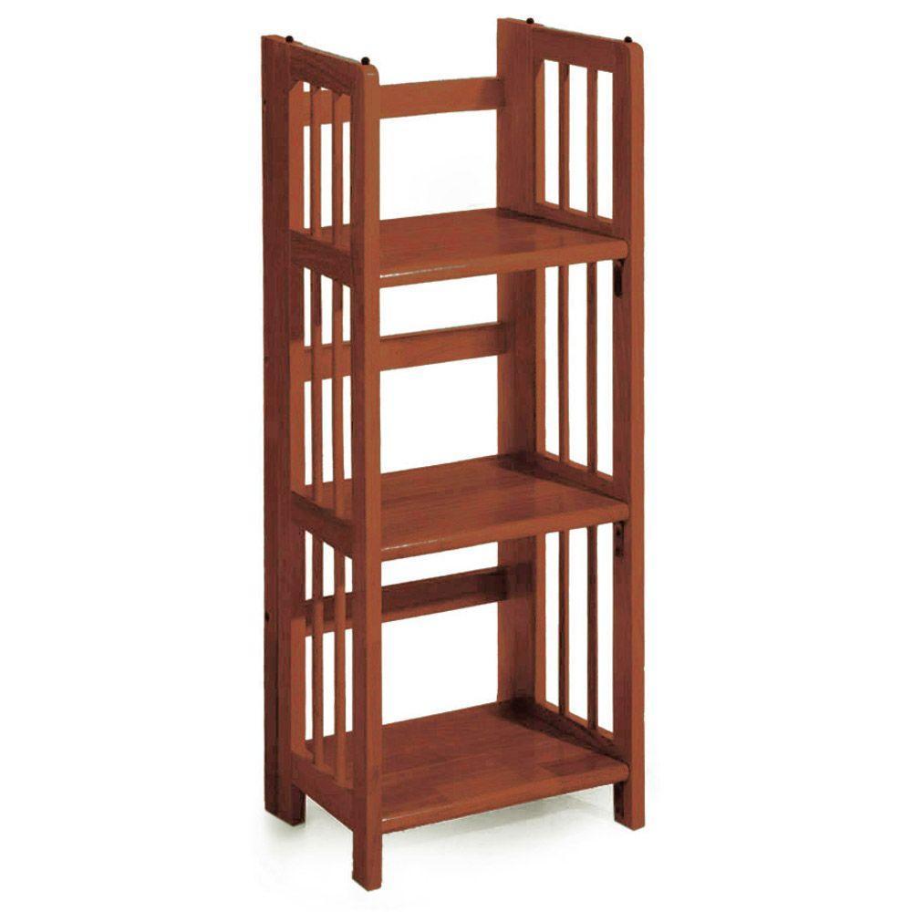 Walnut Folding/Stacking Open Bookcase