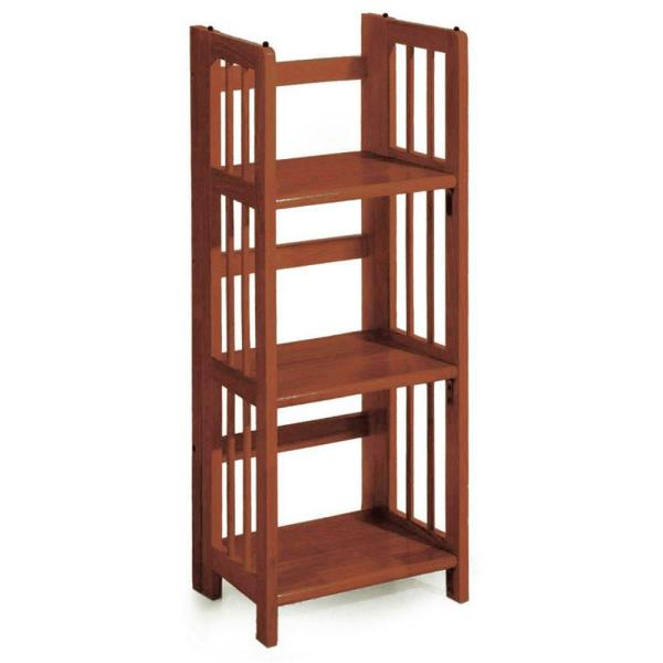 Casual Home Walnut Folding/Stacking Open Bookcase 331-33