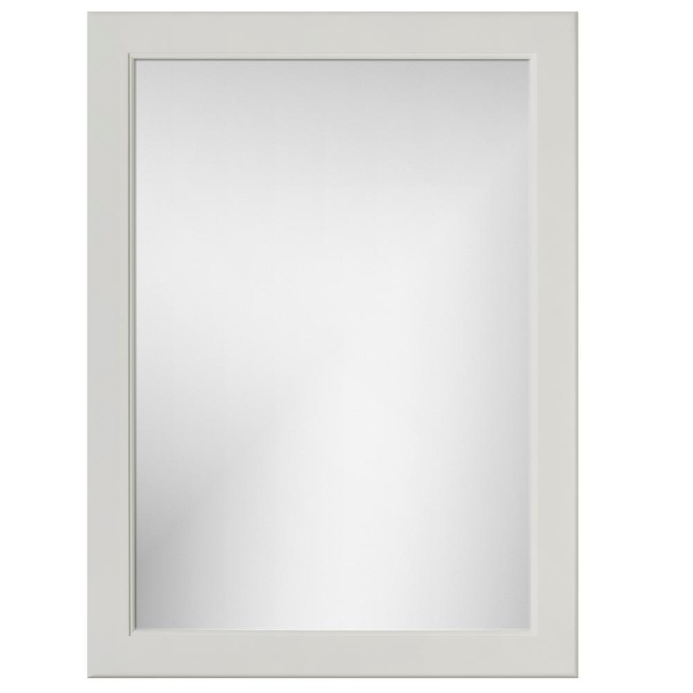 Simplicity by Strasser 24 in. W x .75 in. D x 32 in. Framed Mirror Rounded Dewy Morning