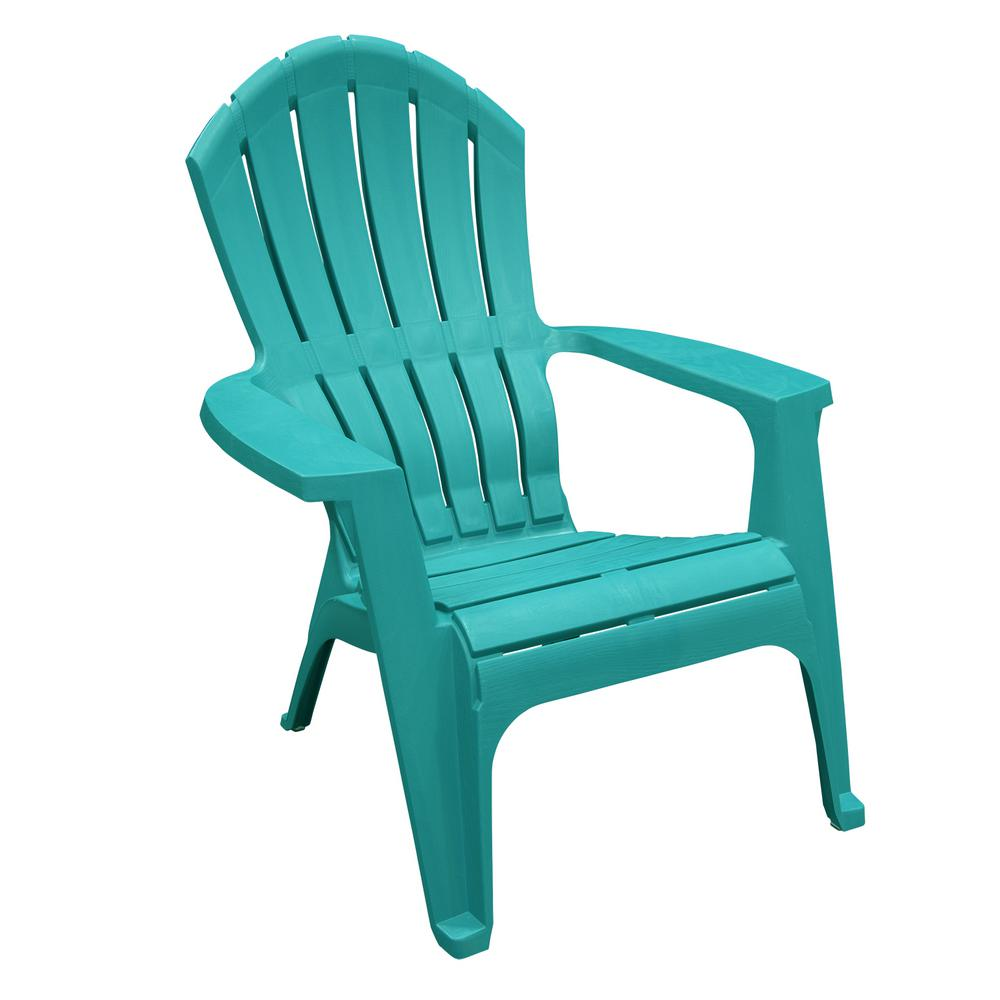 Realcomfort Sea Glass Plastic Adirondack Chair 8371 97 4304 The