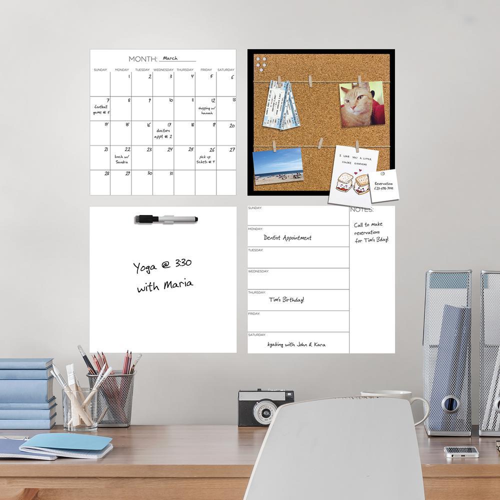 White Message Center Organization Kit