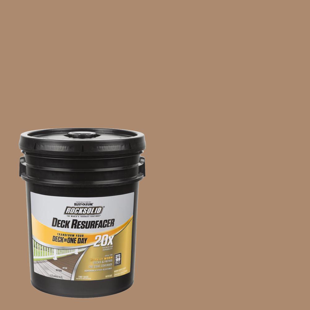 Rust-Oleum RockSolid 4 gal  Cedar Exterior 20X Deck Resurfacer
