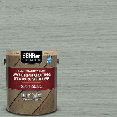 1 gal. #ST-149 Light Lead Semi-Transparent Waterproofing Exterior Wood Stain and Sealer