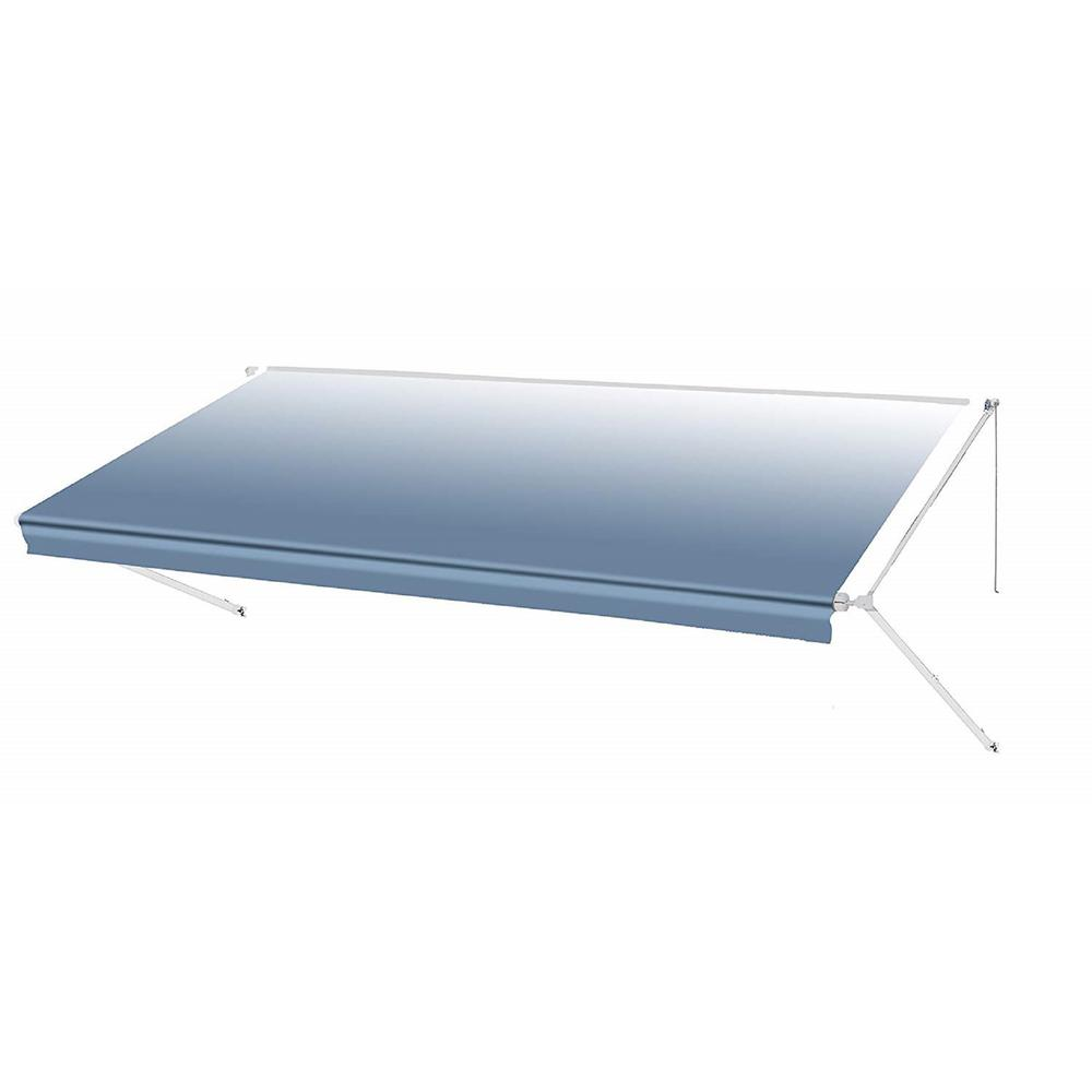 best cheap ee644 8201c ALEKO 16 ft. RV Retractable Awning (96 in. Projection) in Blue Fade