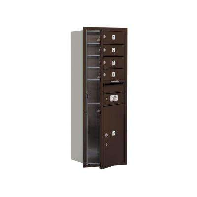 3700 Series 41 in. 11 Door High Unit Bronze Private Front Loading 4C Horizontal Mailbox with 4 MB1 Doors/1 PL5
