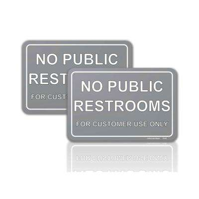 4 in. x 6 in. No Public Restroom for Customer Use Only Sign Stickers (2-Pieces)
