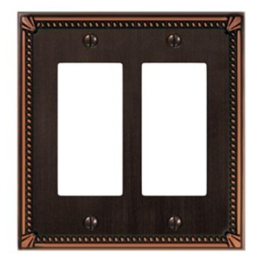 Creative Accents Imperial 2 Decorator Wall Plate - Antique Bronze-DISCONTINUED