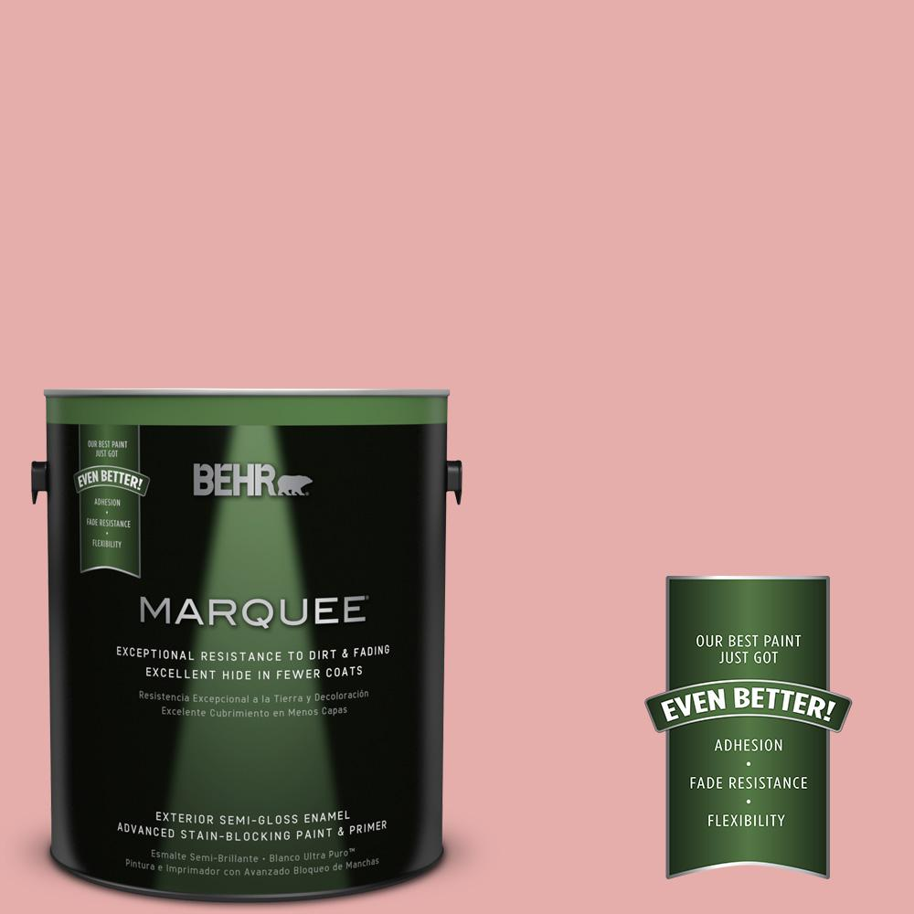 BEHR MARQUEE 1-gal. #160C-3 Rose Silk Semi-Gloss Enamel Exterior Paint