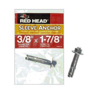 3/8 in. x 1-7/8 in. Zinc-Plated Steel Hex Head Sleeve Anchor