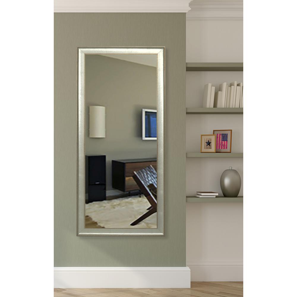 58 in. x 19 in. Vintage Silver Non-Beveled Vanity Mirror