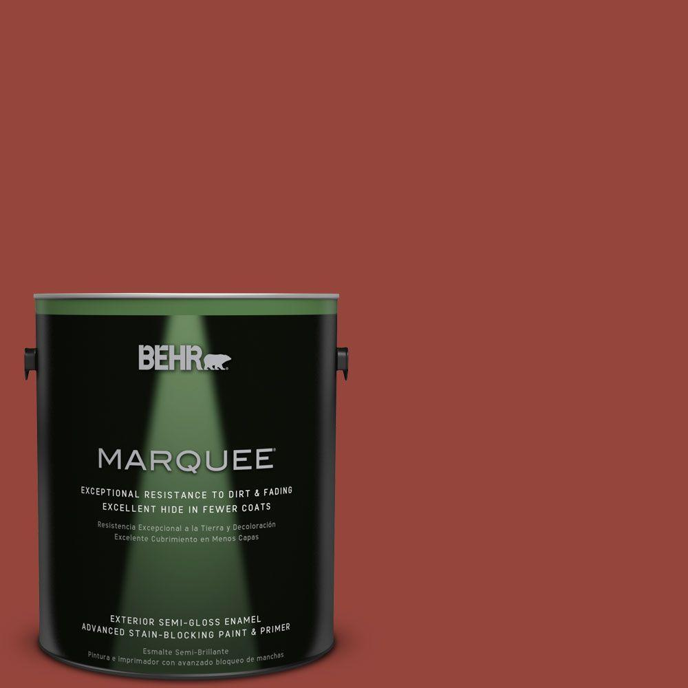 BEHR MARQUEE 1-gal. #PPU2-17 Morocco Red Semi-Gloss Enamel Exterior Paint