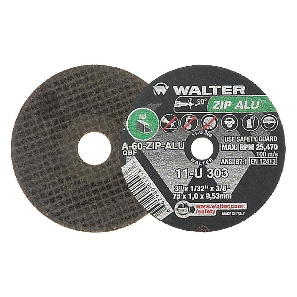 ZIP ALU 3 in. x 3/8 in. Arbor x 1/32 in. T1 Cutting Wheel for Aluminum (25-Pack)