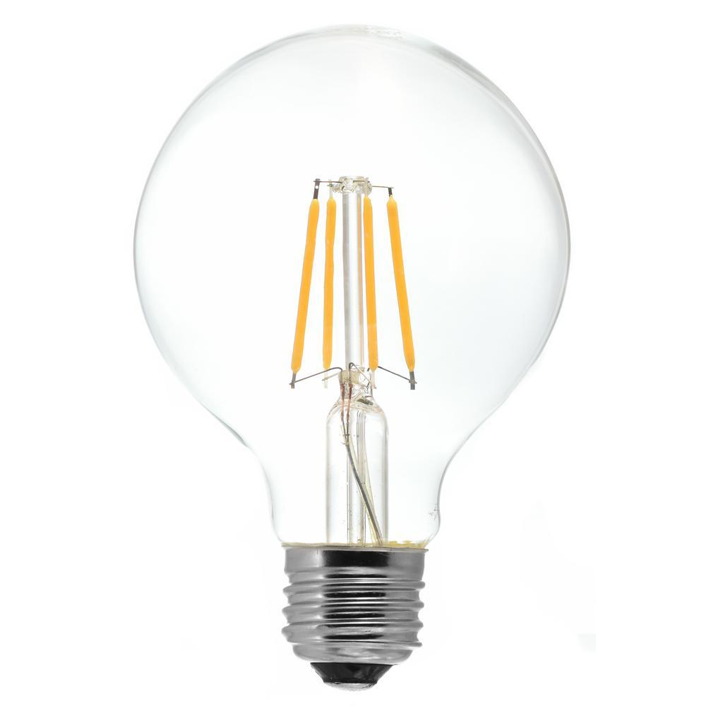 40-Watt Equivalent G25 Medium Base Dimmable Clear LED Light Bulb Warm White