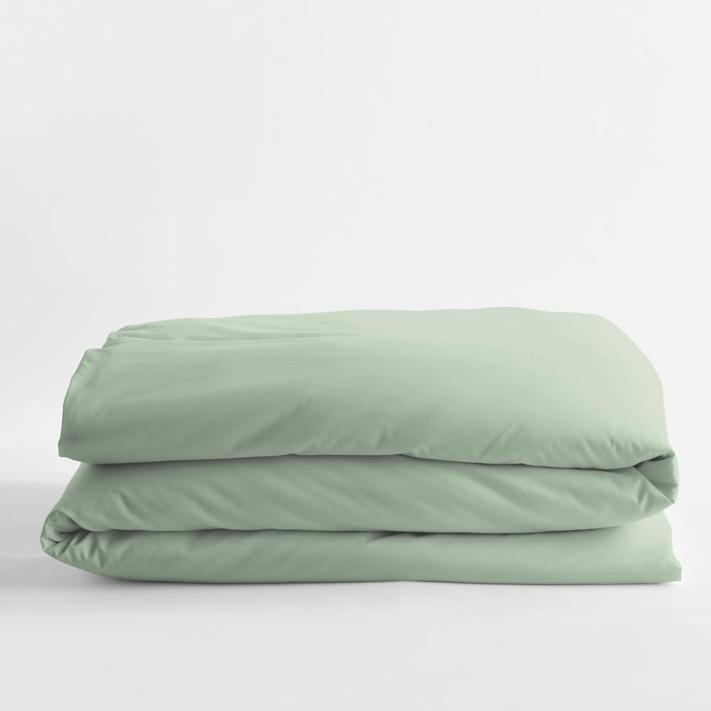 Tarragon Solid Bamboo Cotton Sateen Full Duvet Cover