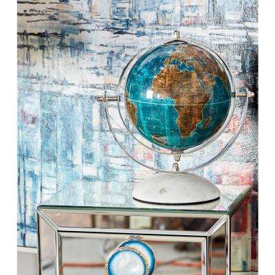8 in. Decorative Globes with White Bases (Set of 3)