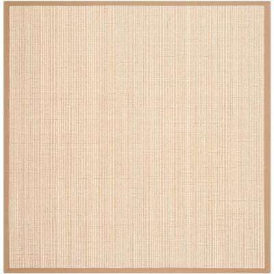 Natural Fiber Tan 6 ft. x 6 ft. Square Area Rug