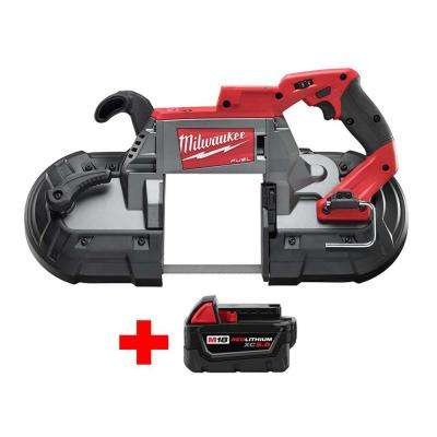 M18 FUEL 18-Volt Lithium-Ion Brushless Cordless Deep Cut Band Saw with Free M18 5.0Ah Battery