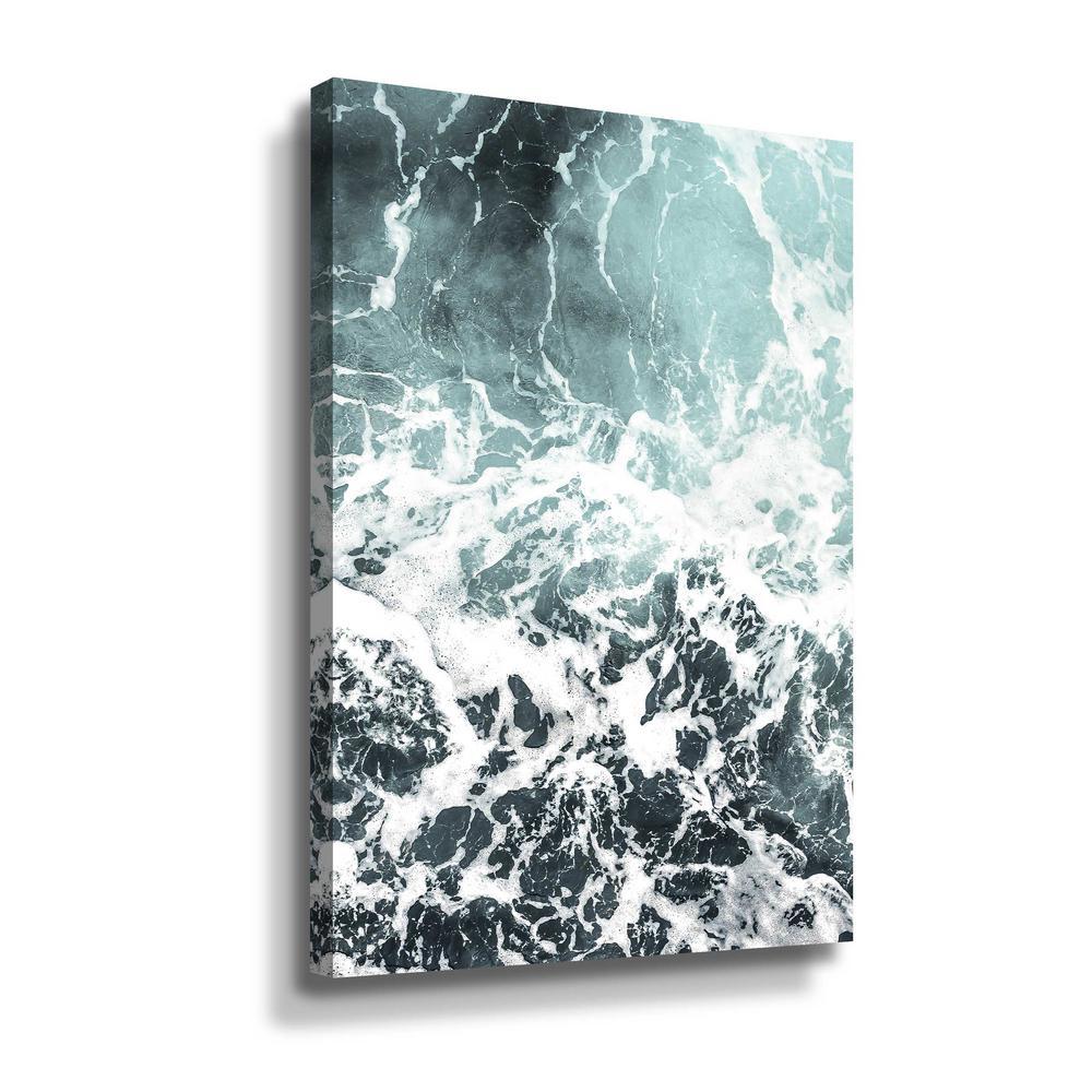 Artwall Waves I By Photoinc Studio Canvas Wall Art 5pst202a1624w The Home Depot