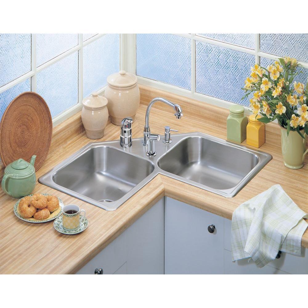 Corner Drop In Kitchen Sinks Kitchen Sinks The Home Depot