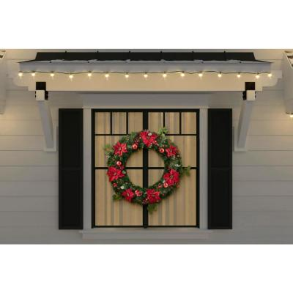 Christmas Wreaths Christmas Greenery The Home Depot